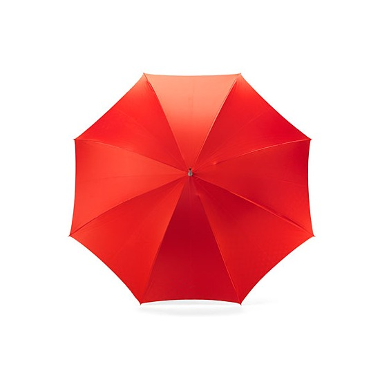 Ladies Polka Dot Umbrella in Red & Black with White Polka Dots from Aspinal of London