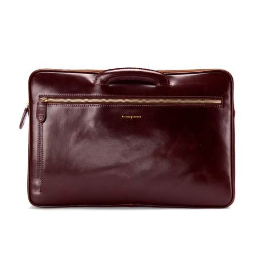 Connaught Document Case in Smooth Chestnut from Aspinal of London