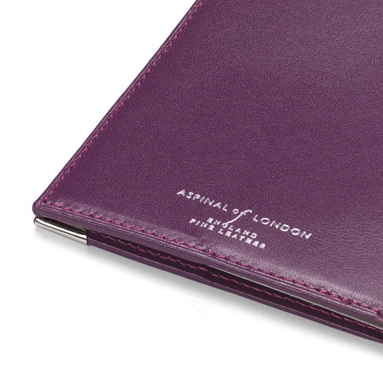 UK Passport Cover in Smooth Violet from Aspinal of London