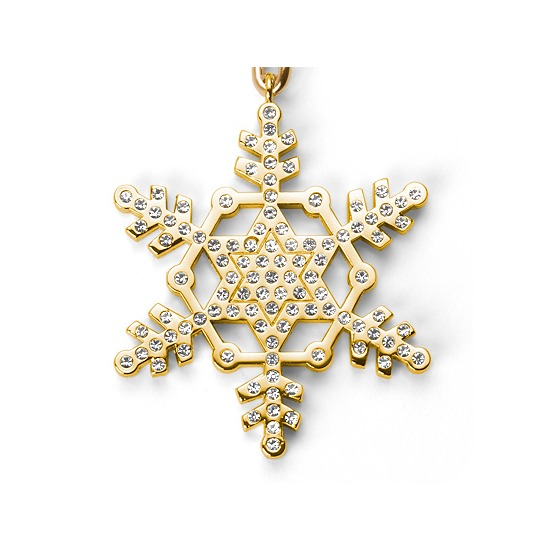 Snow Flake Christmas Key Ring from Aspinal of London