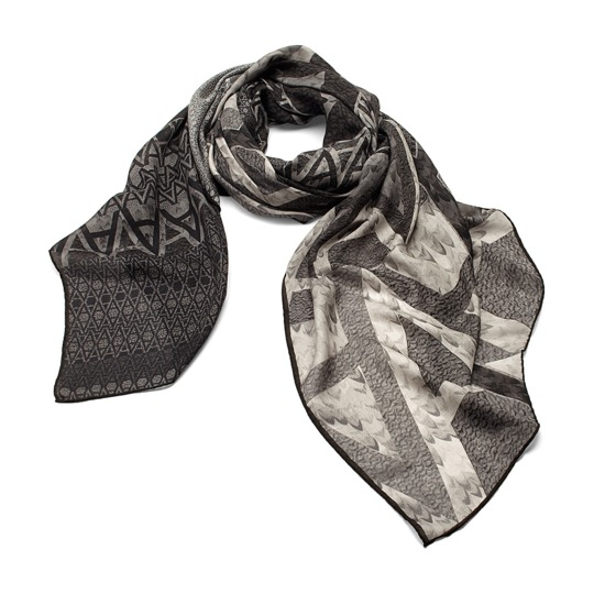 A' Scarf in Graphite Cashmere Blend from Aspinal of London