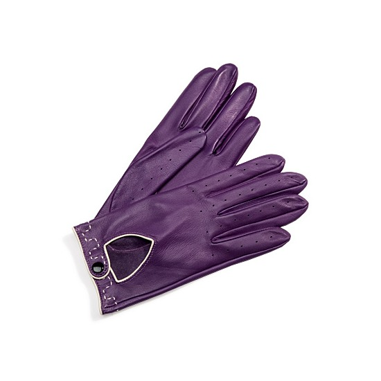 Ladies Leather Driving Gloves in Purple from Aspinal of London