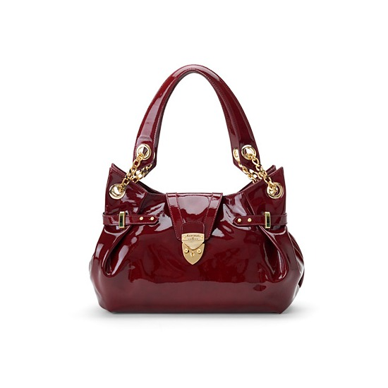 Barbarella Bag in Cherry Red Patent Leather from Aspinal of London