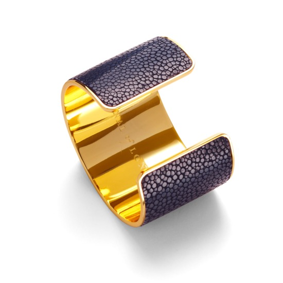 Venus Cuff Bracelet in Navy Stingray from Aspinal of London