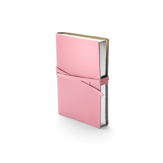 Pastel Pocket Notebook in Pastel Pink Calf from Aspinal of London
