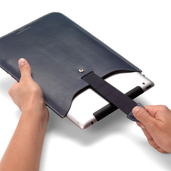 Brit iPad with Retina Display Leather Sleeve from Aspinal of London