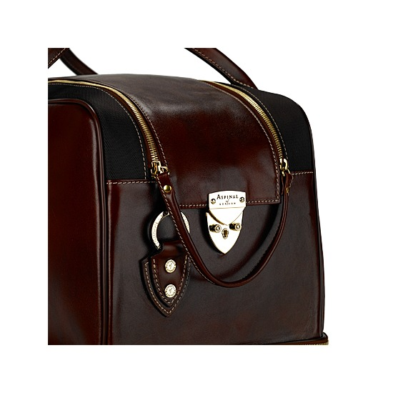 Portofino Rolling Cabin Bag in Smooth Cognac from Aspinal of London