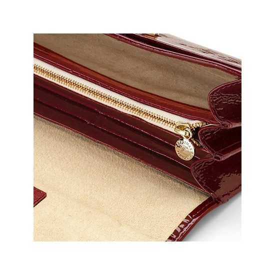 Barbarella Purse Wallet in Cherry Red Patent & Cream Suede from Aspinal of London