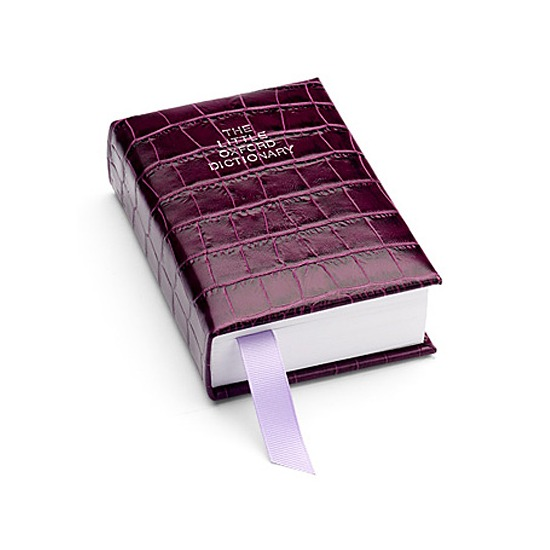 Oxford English Dictionary in Purple Croc from Aspinal of London