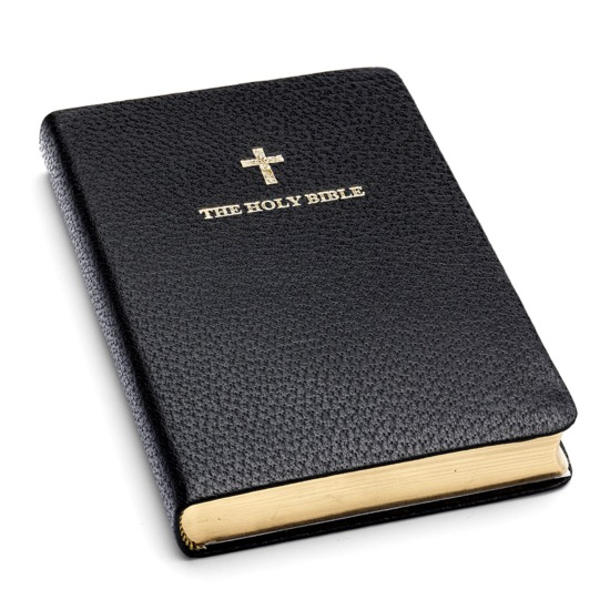 Holy Bible in Black Jewel Calf from Aspinal of London