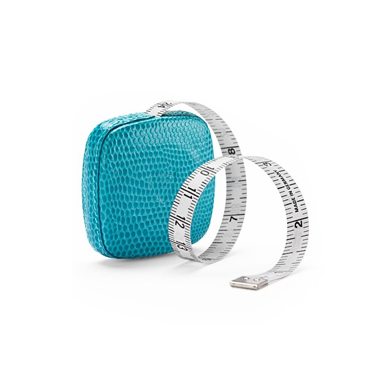 Tape Measure in Turquoise Lizard from Aspinal of London