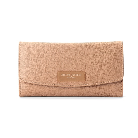Brook Street Purse Wallet in Deer Saffiano from Aspinal of London