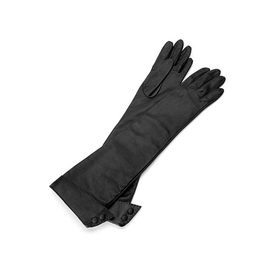 Long Leather Gloves in Black from Aspinal of London