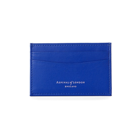 Slim Credit Card Case in Smooth Cobalt Blue from Aspinal of London
