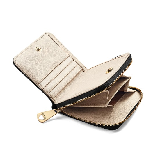 Marylebone Mini Purse in Monochrome Mix from Aspinal of London