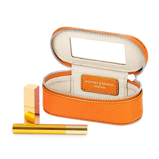 Handbag Tidy All in Orange Lizard from Aspinal of London