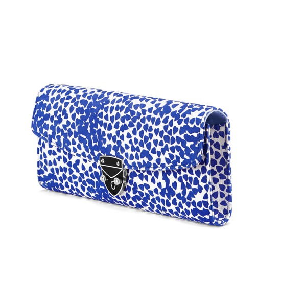 Aspinal x Beulah Blue Heart Clutch in Cobalt Blue from Aspinal of London