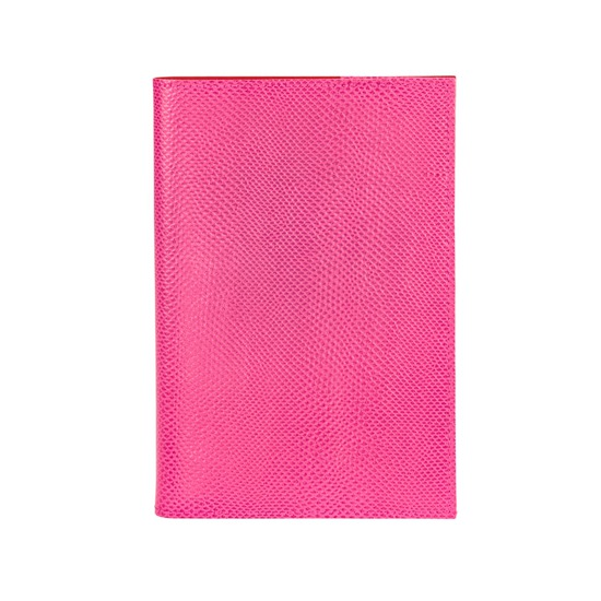 A5 Refillable Journal in Raspberry Lizard from Aspinal of London