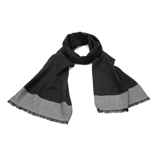 Essential Lightweight Cashmere Blend Scarf in Charcoal Grey from Aspinal of London