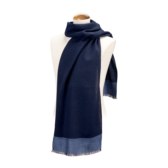 Essential Lightweight Cashmere Blend Scarf in Navy from Aspinal of London