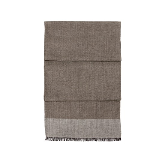 Essential Lightweight Cashmere Blend Scarf in Soft Taupe from Aspinal of London