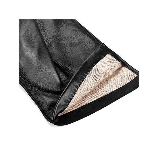 Shadow Men's Suede & Leather Gloves in Black from Aspinal of London