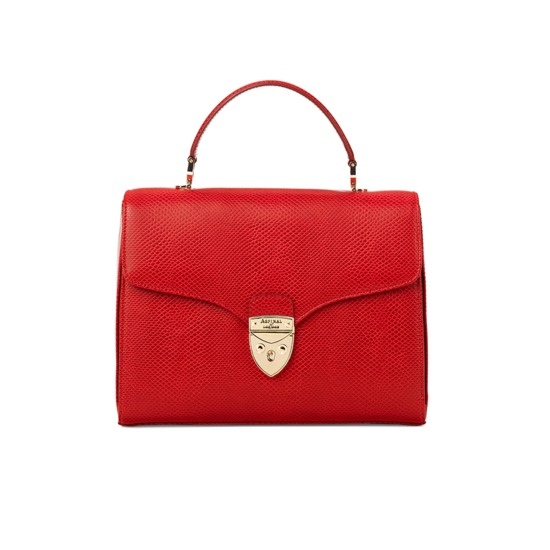 ... Mayfair Bag in Berry Lizard from Aspinal of London ...