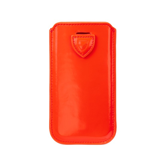 iPhone 6 / 7 Leather Sleeve in Flame Red Polish from Aspinal of London