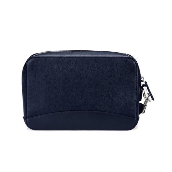 Anderson Man Clutch in Navy Saffiano from Aspinal of London