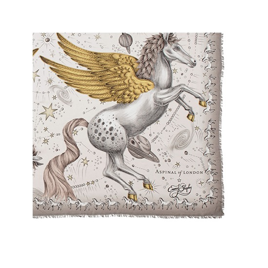 Pegasus Cashmere Blend Scarf in Gold from Aspinal of London