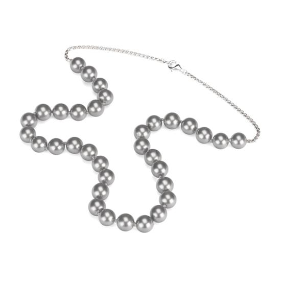 Grey Sea Shell Pearl Necklace (with Sterling Silver Chain) from Aspinal of London