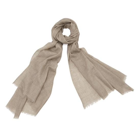Lightweight Cashmere Scarf in Tawny Brown from Aspinal of London