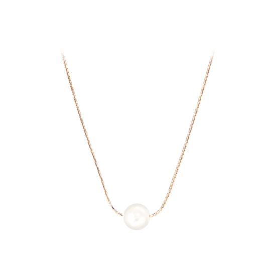 8mm Single White Sea Shell Pearl Necklace from Aspinal of London