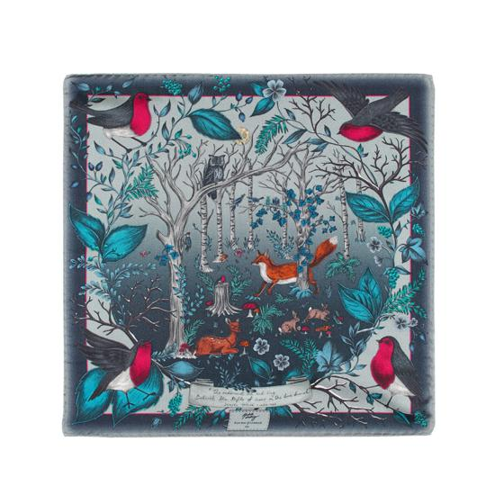 Robin Silk Twill Handkerchief in Midnight Blue from Aspinal of London
