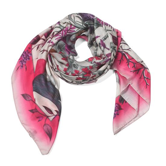Robin Cashmere Blend Scarf in Magenta from Aspinal of London