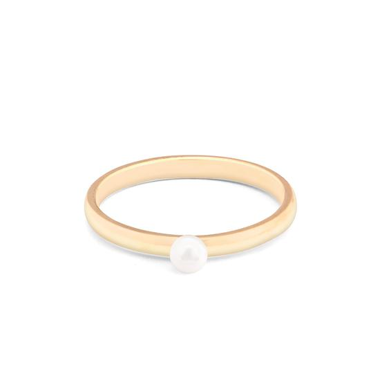 3mm White Japanese Akoya Pearl Ring from Aspinal of London