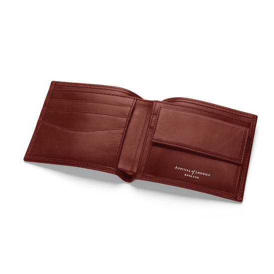 Men's Gift Set (Billfold Coin Wallet & Hip Flask in Cognac) from Aspinal of London