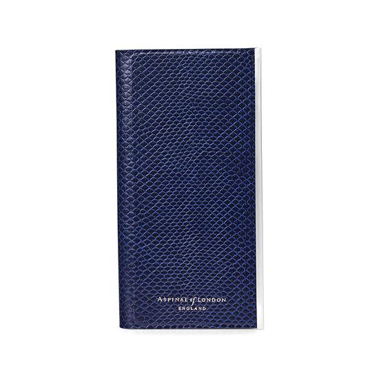 iPhone 6 Leather Book Case in Midnight Blue Lizard & Stone Suede from Aspinal of London