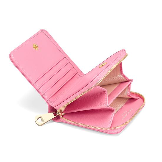 Mini Continental Zipped Coin Purse in Smooth Blossom from Aspinal of London