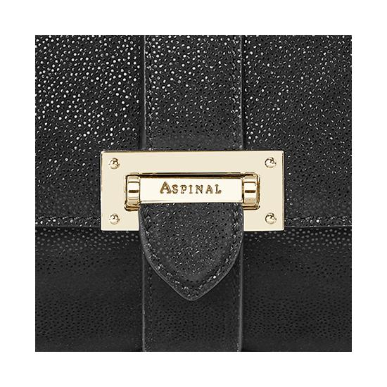 Small Lottie Bag in Black Galaxy from Aspinal of London