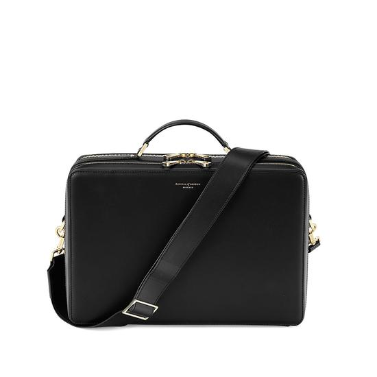 Large Dover Street Bag in Smooth Black from Aspinal of London