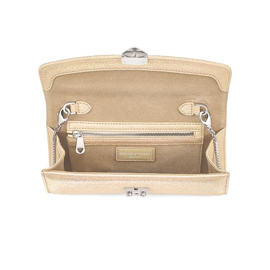 Mini Eaton Clutch in Gold Dust Sparkle from Aspinal of London