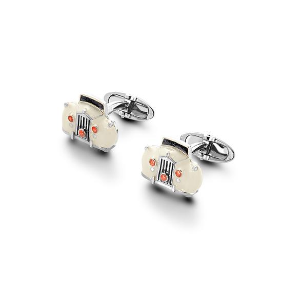 Sterling Silver & Enamel Rolls Royce Cufflinks from Aspinal of London