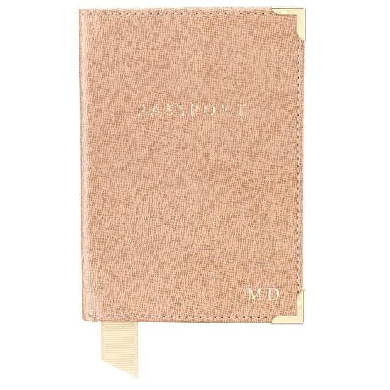 Passport Cover in Aquamarine Lizard & Silver Suede from Aspinal of London