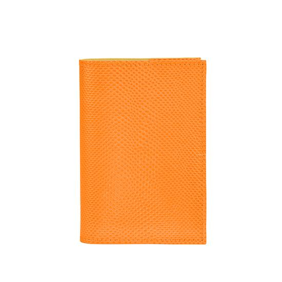 Refillable Pocket Notebook Journal in Orange Lizard from Aspinal of London