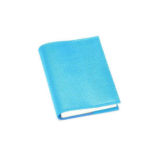 Refillable Pocket Notebook Journal in Aquamarine Lizard from Aspinal of London