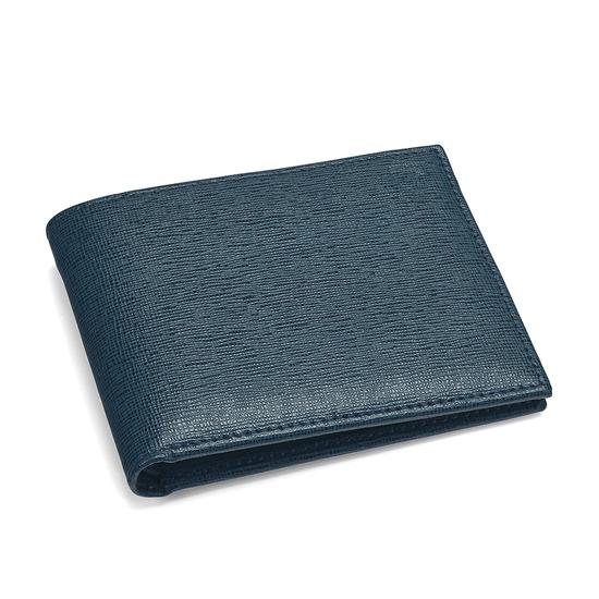 Billfold Wallet in Teal Saffiano & Black Suede from Aspinal of London