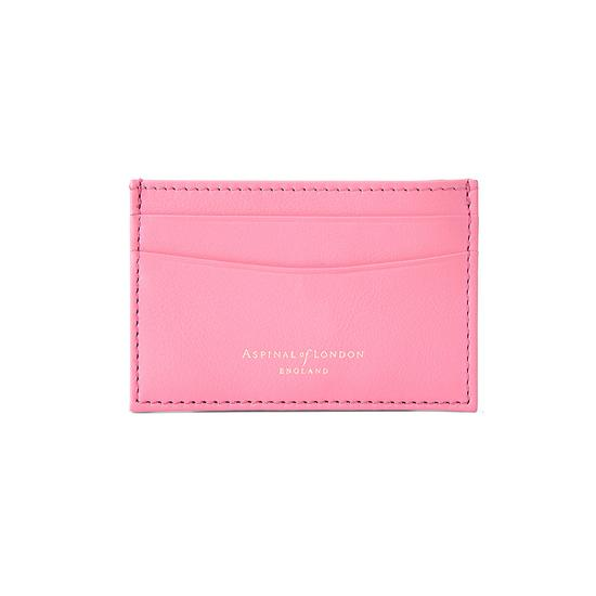 Slim Credit Card Case in Smooth Blossom & Blush Suede from Aspinal of London