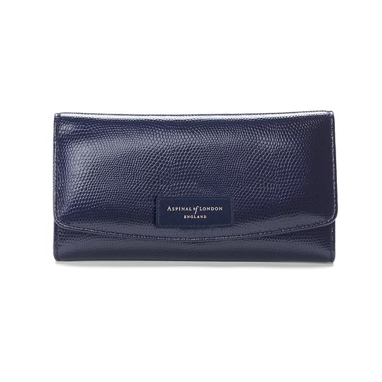Brook Street Purse Wallet in Midnight Blue Lizard from Aspinal of London