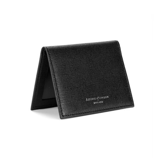 ID & Travel Card Case in Black Saffiano from Aspinal of London